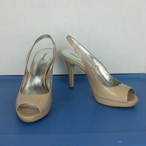 Style & Co. Nude Platform Heels